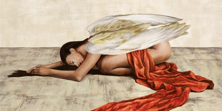 Reclined Angel (Detail) by Sonya Duval art print