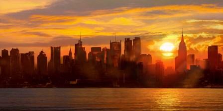 Sunset over Manhattan by Shaun Green art print
