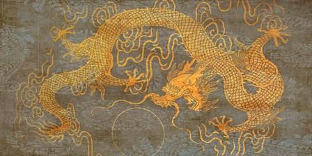 Golden Dragon by Joannoo art print