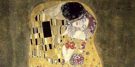 The Kiss (horizontal detail) by Gustav Klimt art print
