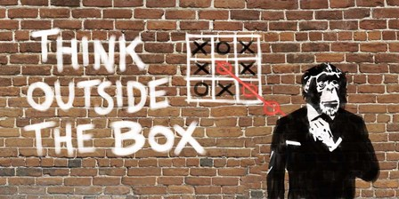 Think Outside of the Box by Masterfunk Collective art print