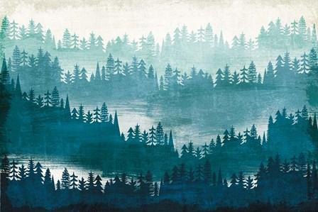Mountainscape Blue by Michael Mullan art print