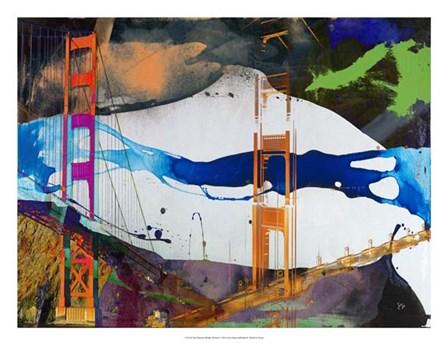 San Francisco Bridge Abstract I by Sisa Jasper art print