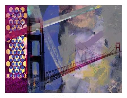 San Francisco Bridge Abstract II by Sisa Jasper art print
