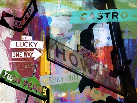 San Francisco Signs II by Sisa Jasper art print