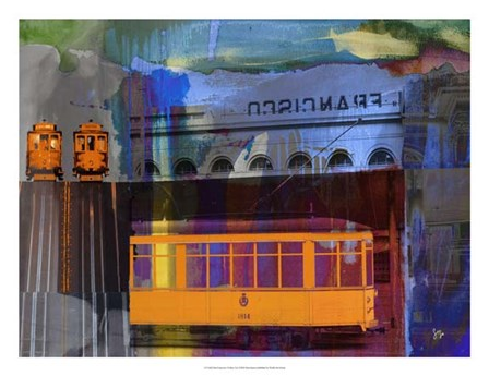 San Francisco Trolley Car by Sisa Jasper art print