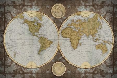 World Map by Elizabeth Medley art print