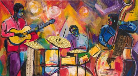 Jazz Trio by Everett Spruill art print