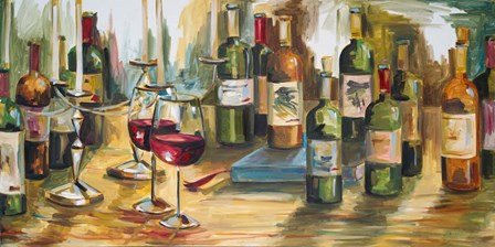 Wine Room by Heather A. French-Roussia art print