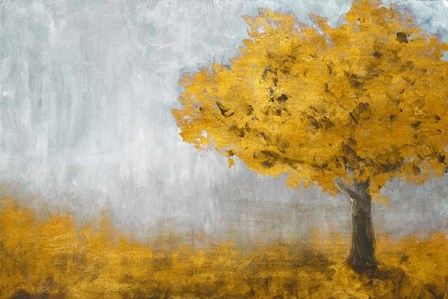 Yellow Eternal Tree by Walt Johnston art print
