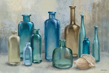 Glass Bottles by Michael Marcon art print