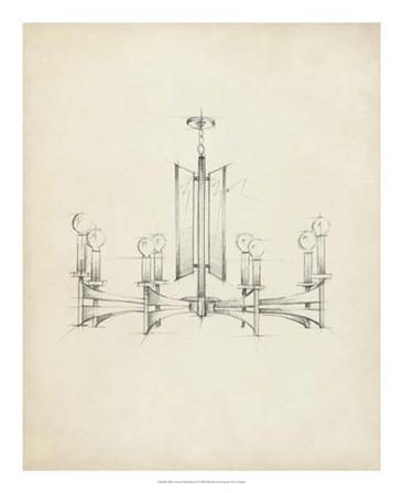Mid Century Chandelier IV by Ethan Harper art print