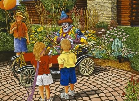 Clownin' Around by Thelma Winter art print