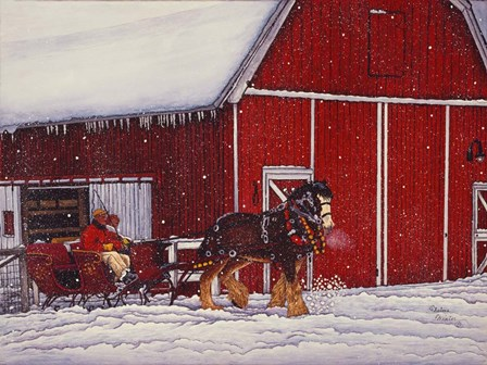 Red Barn by Thelma Winter art print