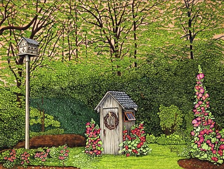 Outhouse by Thelma Winter art print