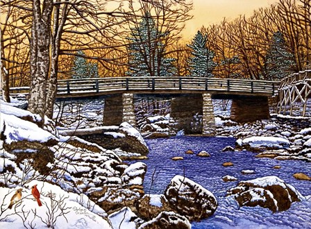 Bridge Over Glade Creek - West Virginia by Thelma Winter art print