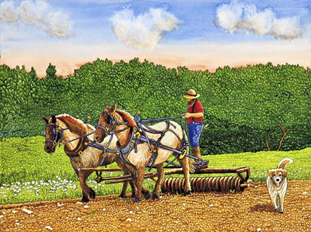 Working The Land by Thelma Winter art print