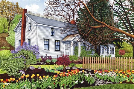 Back Creek Road-Old Homestead by Thelma Winter art print