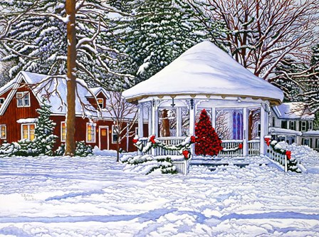 Gazebo At Ellicottville, Winter by Thelma Winter art print
