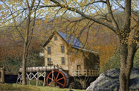 Glade Creek Grist Mill I Beckley, Wv by Thelma Winter art print