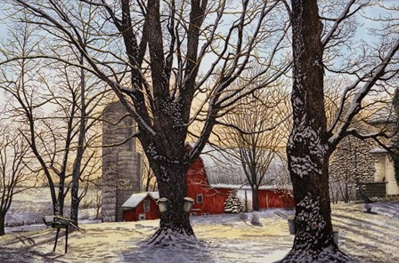 Maple Syrup Time, Collins Center Ny by Thelma Winter art print