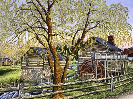 Mccormick Mill, Steeles Tavern Va by Thelma Winter art print