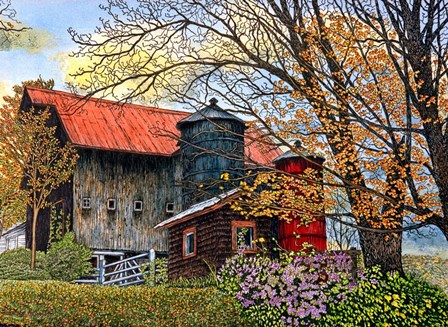 Pin Head Silos Vermont by Thelma Winter art print