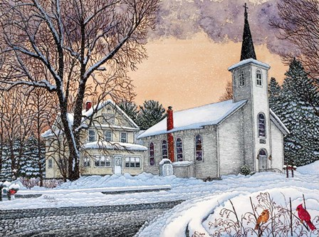 Saint Mary's Church - New Oregon, Ny by Thelma Winter art print