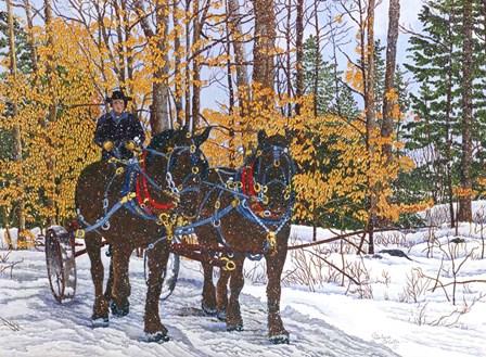 Work Horses by Thelma Winter art print