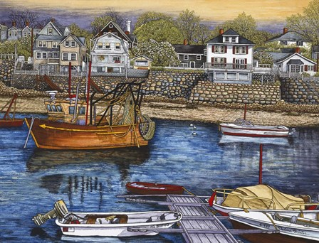 Rockport Harbor by Thelma Winter art print