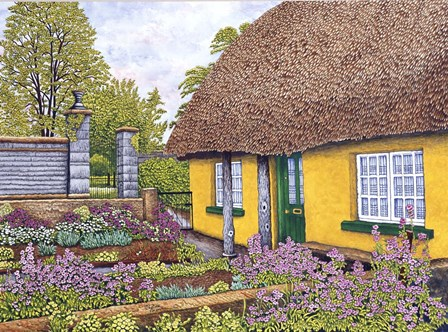 Yellow Cottage by Thelma Winter art print