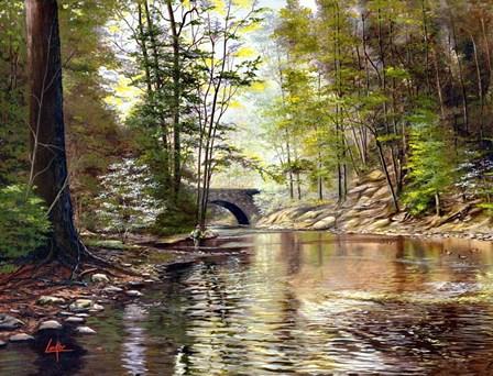 Stone Bridge by Thomas Linker art print