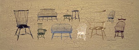 33 Antique Chairs by Susan Clickner art print