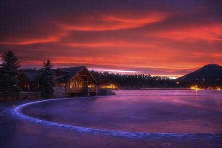 Everygreen Lake Sunrise by Darren White Photography art print