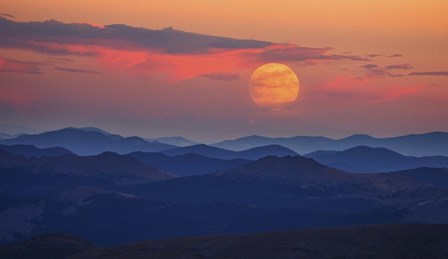 Supermoon at Sunrise by Darren White Photography art print
