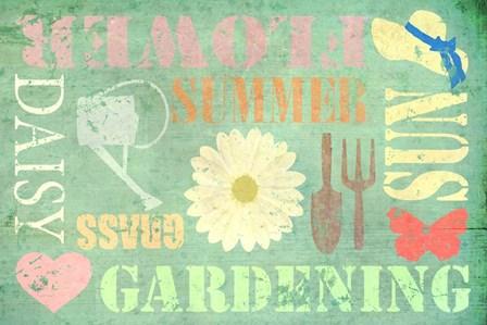 Gardening by Cora Niele art print