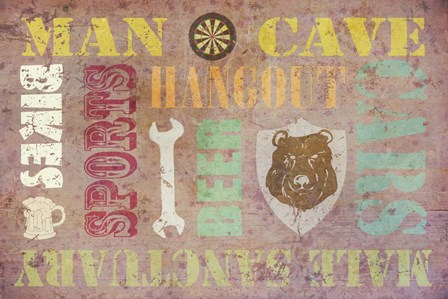 Man Cave by Cora Niele art print