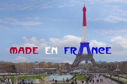 Made en France with Eiffel Tower by Cora Niele art print