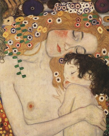 Mother And Child by Gustav Klimt art print
