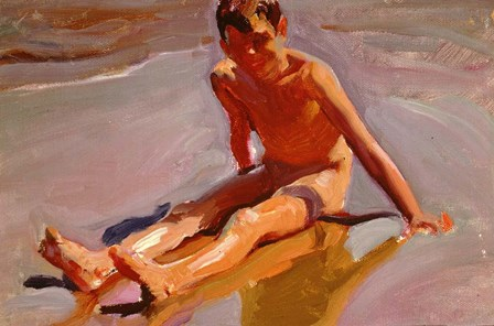Boy on the Beach by Joaquin Sorolla y Bastida art print