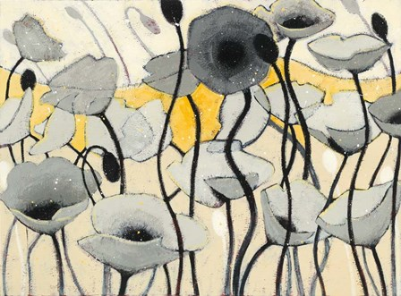 Snow Day Gray Flower by Shirley Novak art print