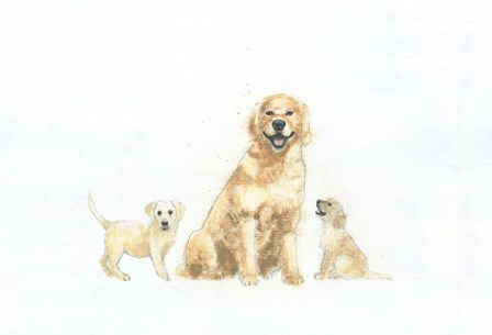 Dog and Puppies by Emily Adams art print