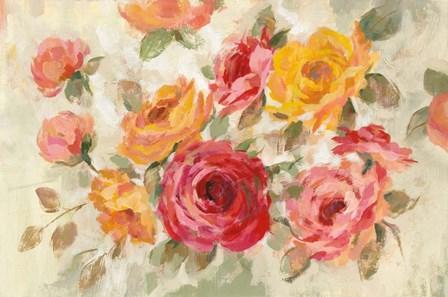 Brushy Roses by Silvia Vassileva art print