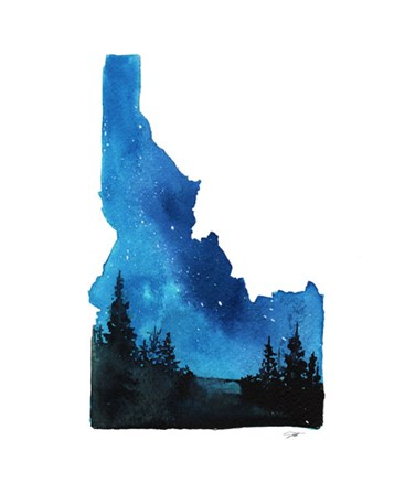 Idaho State Watercolor by Jessica Durrant art print