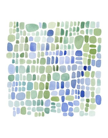 Series Sea Glass No. II by Louise van Terheijden art print