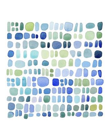 Series Sea Glass No. III by Louise van Terheijden art print