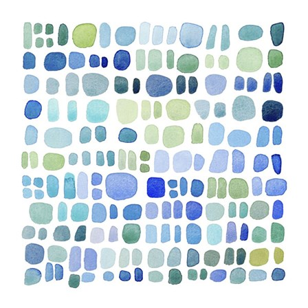 Series Sea Glass No. III by Louise van Terheijden art print