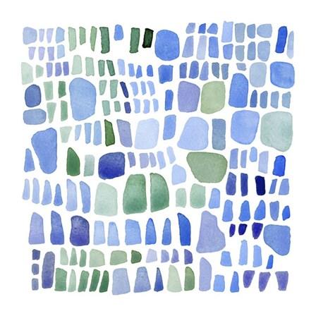 Series Sea Glass No. IV by Louise van Terheijden art print