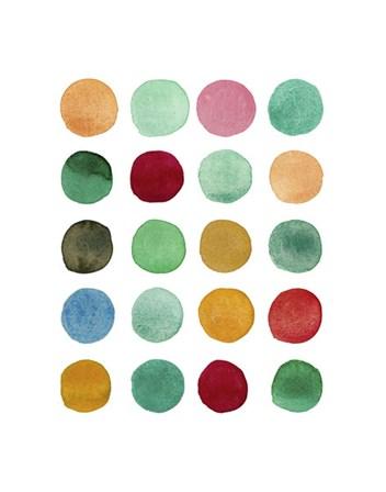 Series Colored Dots No. I by Louise van Terheijden art print