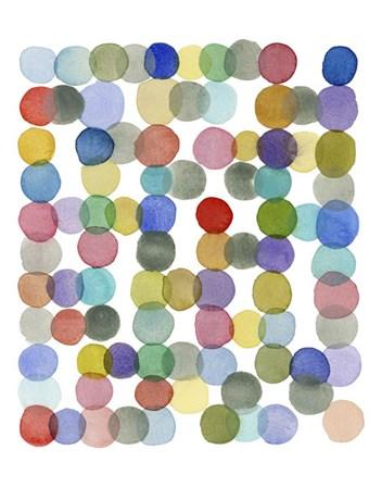 Series Colored Dots No. II by Louise van Terheijden art print